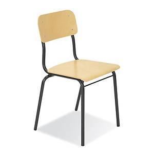 Konferenční židle Nowy Styl Irys s dřevěným sedadlem a opěradlem, černý rám