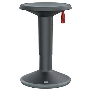 Tabouret ergonomique Prosedia 100U, plastique, diamètre 33 cm, noir