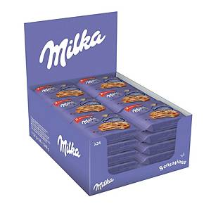Biscotti Cookie Sensations Milka in busta da 52 g - conf. 24
