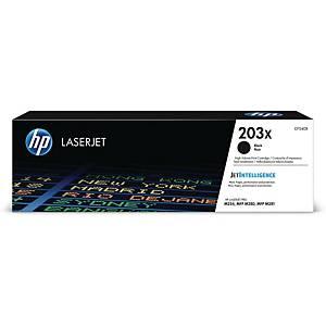 Lasertoner HP 203X CF540X, 3.200 sider, sort
