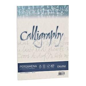 Carta colorata pergamena Favini Callygraphy A4 190g/mq sabbia - risma 50 fogli