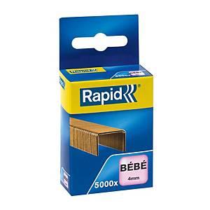 Agrafe Rapid Bébé - 4 mm - dorée - boîte de 5000