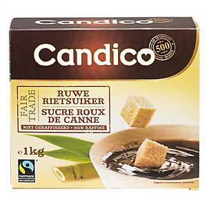 Sucre en morceaux Candico Fairtrade, la boîte de 1 kg