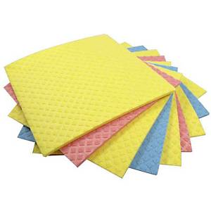 DISH CLOTHS 18X20CM ASSORTED COLOURS - PACK OF 5