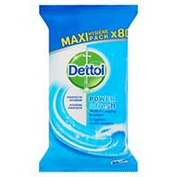 DETTOL POWER&OCEAN WET WIPES - PACK OF 80