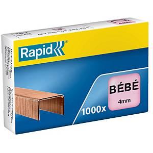 Agrafe Rapid Bébé - 4 mm - dorée - boîte de 1000