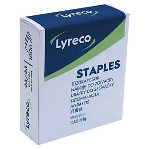 Lyreco Staples 23/23 Grey - Box of 1000