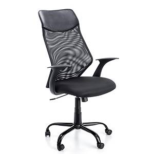 A2000 6492 CHAIR SYNCRO W/ARMS BLK