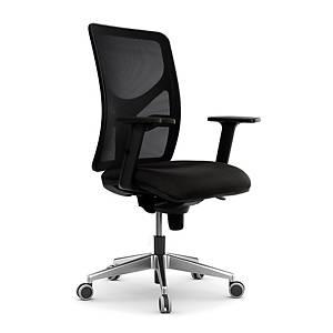 Cadeira com mecanismo sincronizado Lyreco PM10 - preto