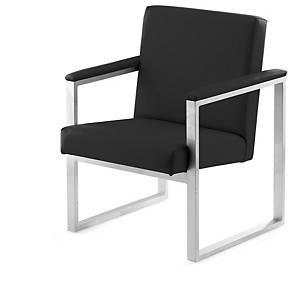 Cadeira de sala de espera Serie 7000 - 1 assento - preto