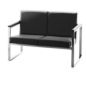 Cadeira de sala de espera Serie 7000 - 2 assentos - preto