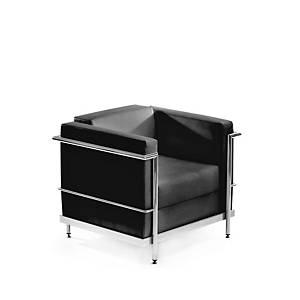 Cadeira de sala de espera Serie 5000 - 1 assento - preto