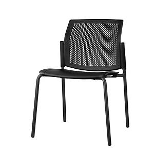 LGP40 FIXED CHAIR WITHOUT ARMS BLK/BLK