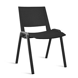 K3P40 FIXED CHAIR WITHOUT ARMS BLK/BLK