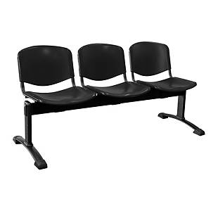 Bancada de 3 asientos LYRECO de plástico estructura de meta Dim: 1500x780x430 mm