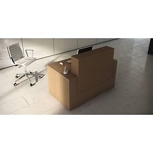 Mesa com mostrador para recepción color roble oscuro