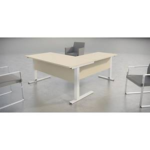 OFITRES LOGIN TABLE 160X80X75NAT BCH/WH