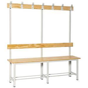 Bancada de vestuário com cabide desmontado - 1500 x 1800 x 320 mm - madeira