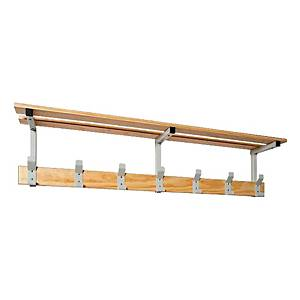 SETROC WALL PERCH+SH 7P 1500X135X60 WOOD