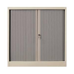 Roller Shutter Double Door Cabinet 2 Shelves