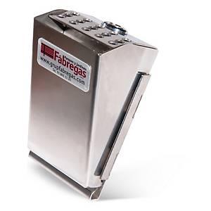 Cenicero acero inox. Acoplable a otras superficies cierre anti-robo 78x86x143mm