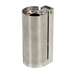 Cenicero para colgar de acero inoxidable, antirrobo y fácil vaciado 6,5x9x16mm