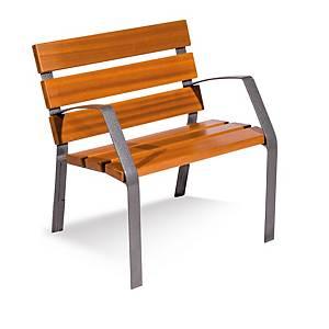 Silla urbana, patas de fundición ductilmartelé 6 listones madera 35x110x700 mm