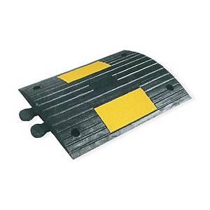 Reductor de velocidad en caucho reciclado con bandas reflectantes 502x400x55mm