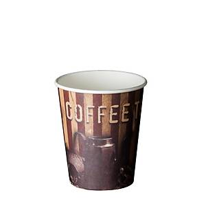 Pack de 50 copos Coffee Time - cartão - 180 ml