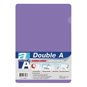 Double A Plastic Folder A4 Purple - Pack of 12