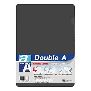 Double A 膠文件套A4 灰色 - 每包12個