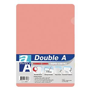 Double A Plastic Folder A4 Pink - Pack of 12