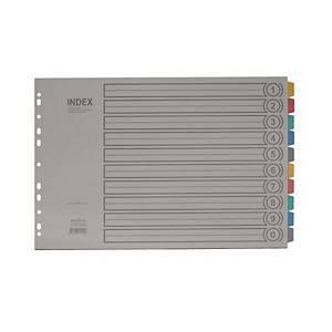 대흥 10분류 PVC 인덱스 I810 A3 가로형 1세트입