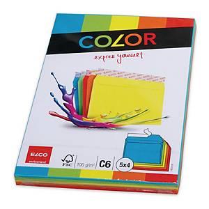 ELCO COLOR boríték, C6 WO/WIN, színes, 20 darab