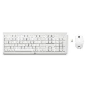 HP C2710 draadloos toetsenbord en muis, wit, QWERTY Nederland