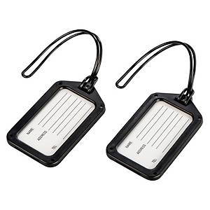 Gepäckanhänger Hama 105322, schwarz, 2 Stück