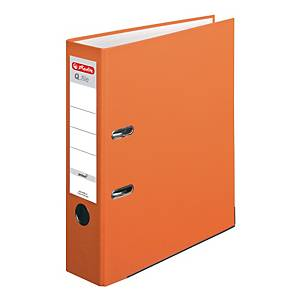 Herlitz Q.file Standardordner, Rückenbreite 8 cm, orange