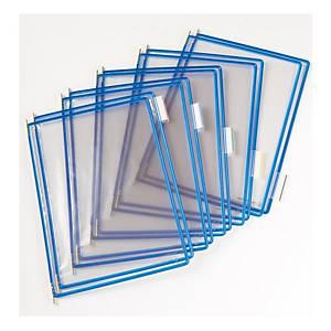 t-display Industrial Tarifold Drehzapfentafeln A3, blau, Packung mit 10 Stück