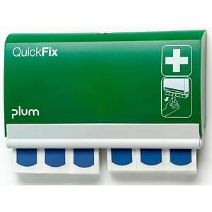Distributeur de pansements QuickFix, 2x45 pansements détectables, vert/blanc