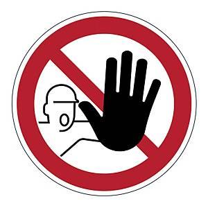 Výstražná samolepka Durable  Zákaz vstupu