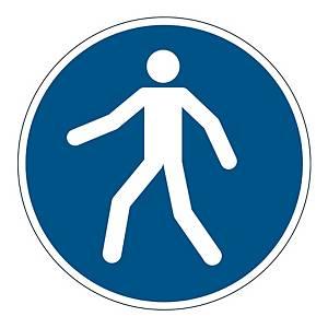 Bezpeč. značenie na podlahu DURABLE Príkaz na použitie komunikácie pre chodcov