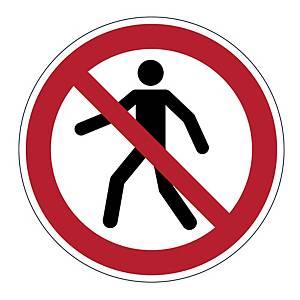 DURABLE biztonsági figyelmeztető címkék padlóra   Gyalogosoknak belépni tilos