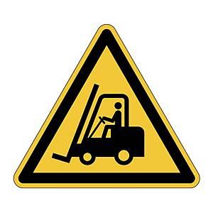 Výstražná samolepka Durable  Pozor pohyb vyskozdvižných vozíkov