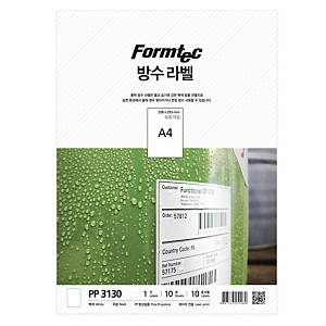 PK10 FORMTEC PP-3130 W-PRF LABEL A4