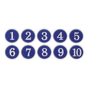 아트사인 에폭시 번호스티커 1-10 (1110) 청색