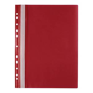 BIURFOL PUNCHED FILE PP A4 RED