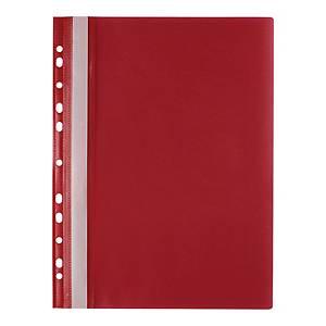 Skoroszyt wpinany miękki PP Biurfol w kolorze czerwonym