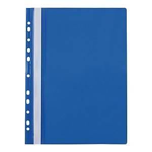 Skoroszyt wpinany miękki PP Biurfol w kolorze niebieskim