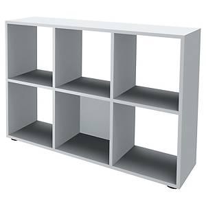 Bibliothèque casier Simmob - 6 cases - H 84 cm - blanche