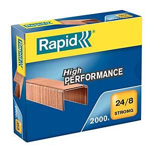 Agrafes Rapid Strong 24/8, cuivrées, 40 feuilles, les 2.000 agrafes